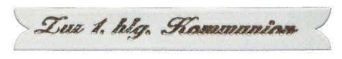 """Schriftband aus Wachs """"Zur 1. hlg. Kommunion"""""""