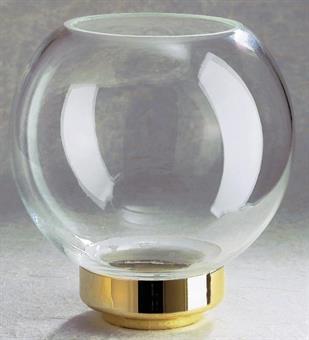 Flambeaux-Glas Klassik Messing, Kugelform