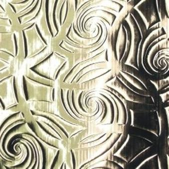 Verzierwachsplatte, silber geprägt