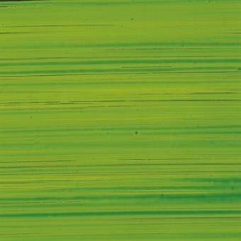 Verzierwachsplatte, transparent, gold, grün bemalt