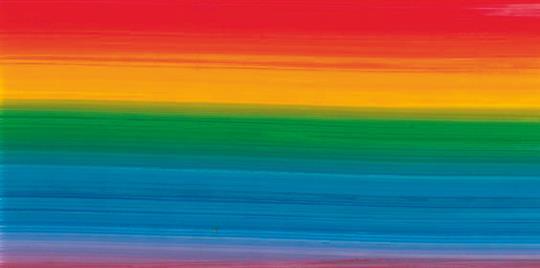 Verzierwachsplatte, Regenbogen, 10er Pack