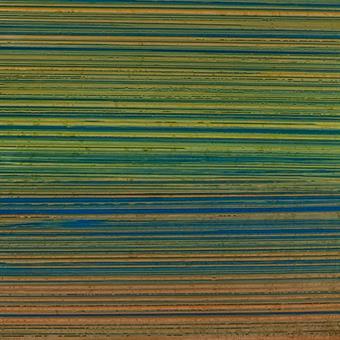 10 Stück Verzierwachsplatten im Set, blau-orange-grün