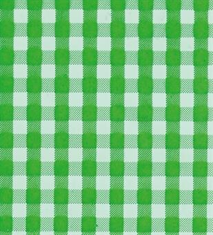 Verzierwachsplatte, grün kariert