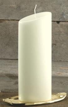 Ovalkerze, elfenbein240/90 mm
