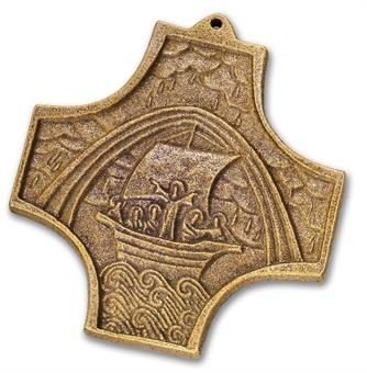 """Bronzekreuz """"See Genezareth"""""""