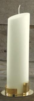 Ovalkerze, elfenbein240/65  mm