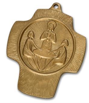 """Bronzekreuz """"Emmaus-Jünger"""""""