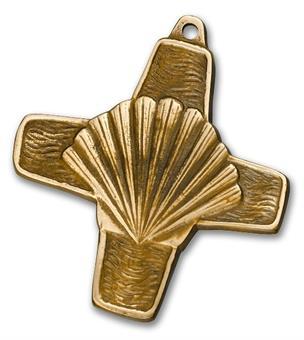 """Bronzekreuz """"Pilgermuschel"""""""