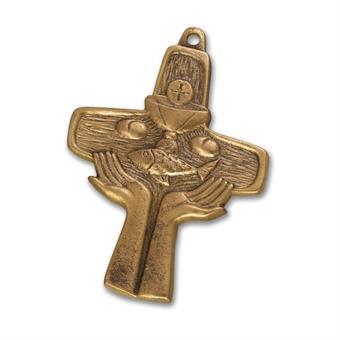 """Bronzekreuz """"Hände"""""""