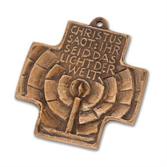 """Bronzekreuz  """"Licht der Welt"""""""