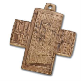 """Bronzekreuz - """"Ich bin die Tür"""""""