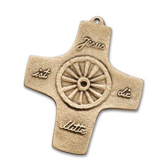 """Bronzekreuz """"Jesus ist die Mitte"""""""