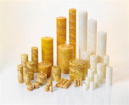 100%-Bienenwachskerze, 80/50 mm natur Marmoriert natur | 80 mm | 50 mm