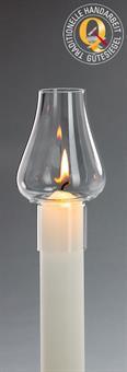 Windschutz-Glas, für Kerzen mit 4 cm Durchmesser