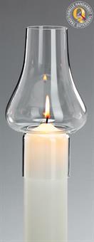 Windschutz-Glas, für Kerzen mit 6 cm Durchmesser