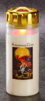 """Osterlicht """"Auferstehung Christi"""", Höhe 16 cm, 4 Tage Brenndauer"""