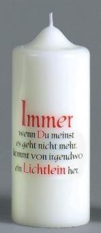Spruchkerze, Format 175/70 mm